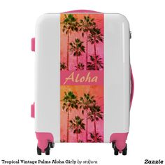 Shop Tropical Vintage Palms Aloha Girly Luggage created by stdjura. Vintage Filters, Palms, Palm Trees, Tropical, Girly, Photography, Products, Palmas, Women's