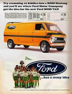 The ad is faked - no such van was ever made - but how cool it would be to make one!