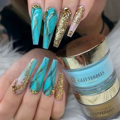 Elegant and Cute Acrylic Nail Designs, unique ideas for you to try in special day or event. Cute Acrylic Nail Designs, Best Acrylic Nails, Beautiful Nail Designs, Nail Art Designs, Nails Design, Glam Nails, Dope Nails, Bling Nails, My Nails