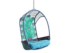 peacock hanging chair