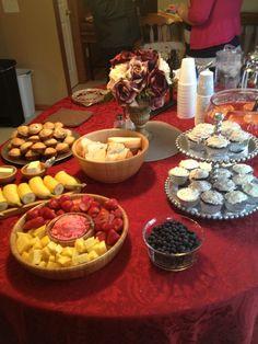 Baby brunch food ideas - those cupcakes look delicious!!