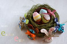 Cute crochet mini Easter eggs, great for the coming Easter decoration.