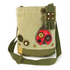 NEW! - Ladybug Patch Crossbody with Coin Purse - Sand $43.00