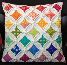 Diary of a Quilt Maven: Faux Cathedral Windows Pincushion Tutorial--no hand sewing for this method!