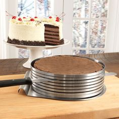 Frieling Layer Cake Slicing Kit can help you easily make an 8 layer cake! $59.95