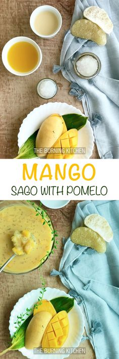 The Burning Kitchen | Mango Sago with Pomelo is a super refreshing fruity dessert that is so easy to make you won't believe it!