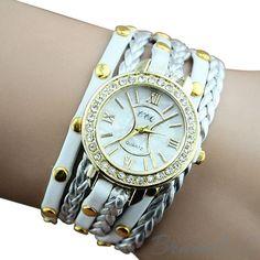 Leder Armbanduhr - http://bramel.ch/accessoires-shop/armband/leder-armbanduhr/ http://bramel.ch/wp-content/uploads/2014/05/leder-armbanduhr-elegant-in-gold-weis.jpg