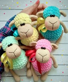 Sheep - Toys Plush - Amigurumi [Free Crochet Pattern] ONLY FREE crocheting patterns for Amigurumi, Toys, Afghans, Baby Blankets, New Stitches and Tutorials and many more! #crochet #lovecrochet #freepattern #amigurumi #amigurumidoll #amigurumiaddict #toy