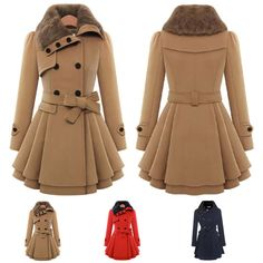 Fashion Warm Slim Coat Jacket Women Long Winter Outwear Thick Parka Overcoat | eBay