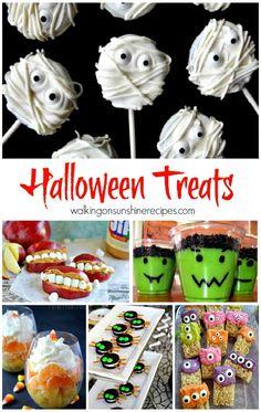 Halloween Food and Treats featured on Walking on Sunshine Recipes