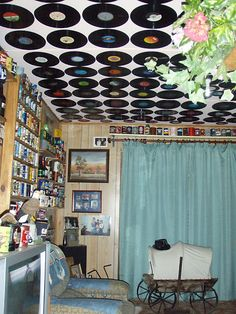 Collections: record collection decor.