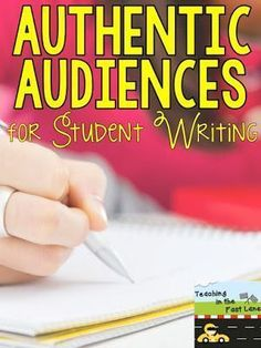 Authentic Audiences for Student Writing-I am always looking for ways to share my students' writing in a meaningful way that will encourage them to write for a true audience!