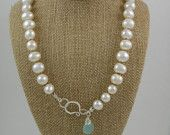 pearl and chalcedony necklace
