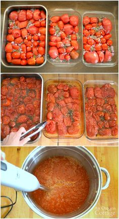 Water-Bath Safe Canned Roasted Tomato Sauce - Sauces - Sauce recipes Roasted Tomato Sauce, Canned Tomato Sauce, Canned Roasted Tomatoes Recipe, Canned Tomato Recipes, Tomatoe Sauce, Canned Foods, Canning Tomatoes, Preserving Tomatoes, Preserving Food