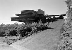 1939 Sturges House | Architect: Frank Lloyd Wright (overseen by Taliesin fellow John Lautner) | 449 N. Skyewiay Road, Los Angeles, CA