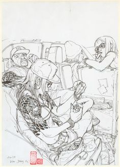 """Kim Jung Gi - illustration originale,  """"Addict"""""""