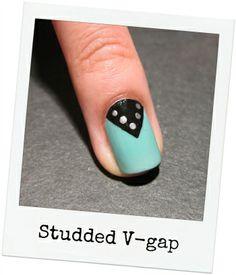 Studded, V-gap, tape