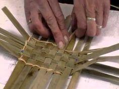 Nancy Today: Cattail basket workshop 14 ASMR weaving basketmaking (baske...