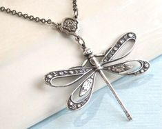 Copper Dragonfly Necklace Dragonfly Jewelry by mcstoneworks