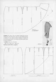 DIY Skirt - Vintage Sewing Draft Pattern (other interesting patterns on site) Sewing Hacks, Sewing Tutorials, Sewing Projects, Sewing Tips, Dress Tutorials, Techniques Couture, Sewing Techniques, Pattern Cutting, Pattern Making