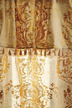 Gold Foil Curtain - anthropologie.com #anthroregistry