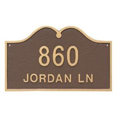 Montague Metal Products Hillsdale Arch Standard Two Line Address Plaque Finish: White / Silver