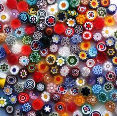 Millefiori (glass mosaic Murano, Venice jewelry)