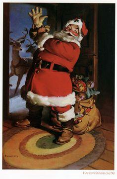 Santa Claus by Haddon Sundblom, 1961.