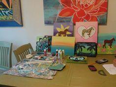 RastaMamaArt work space...lots of fun projects in progress