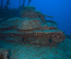 Coolest Underwater Attractions:  Truk Lagoon, Micronesia  At the top of even the most casual wreck enthusiast's bucket list, Truk (a.k.a. Chuuk) was the forward stronghold of Japan's Imperial Navy during World War II before it was bombed into oblivion in February 1944. The coral-encrusted ghost fleet (some 60 ships, 275 airplanes)—with gas masks, ammunition, guns, and bones still rattling inside—litters the sandy floor at an average depth of 65 feet.