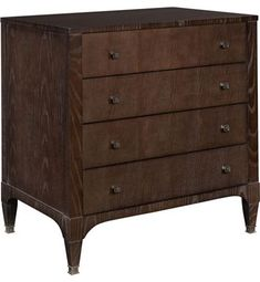Artisan Small Four Drawer Chest - Ash from the 1911 Collection collection by Hickory Chair Furniture Co.