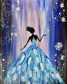 Join us at Pinot's Palette - Bricktown on Thu Jan 2020 for Snowflake Dance. Seats are limited, reserve yours today! Ballerina Painting, Painting Of Girl, Diy Painting, Dance Paintings, Cool Paintings, Art Painting Gallery, Paint And Sip, Paint Party, Chalk Art