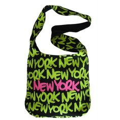 Robin-Ruth NY This is my fave bag! But mine is silver and orange Yankees Gear, New York T Shirt, Green Fashion, Neon Green, Fashion Bags, Couture, Robin, Gym Bag, Reusable Tote Bags