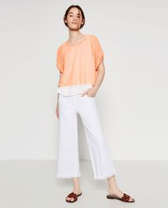ZARA - NEW IN - CROPPED T-SHIRT Ref.  5584/031 $29.90