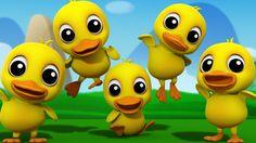Five Little Ducks   3D Nursery Rhymes   Kids Songs   Children's Music Video