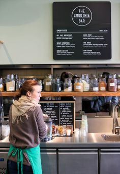 Glass Jars for add-ins? Not a bad feature board, but shouldn't it be on the counter side with the customer?:
