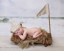 Boat Prop Raft Prop Sailor Hat Flag Newborn by SnippetsProps Cute Photography, Newborn Photography Props, Newborn Photos, Boat Props, Kids Photo Props, Baby Portraits, Family Portraits, Vintage Props, Diy Photo