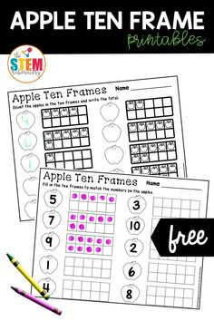 Adding in seasonal themes to everyday learning activities can be super motivating for kids. These apple ten frame printables are a great way to work on numbers and counting with preschoolers and kindergarteners this fall! #earlyelementary #mathactivities #prek #kindergarten #firstgrade Ten Frame Activities, Apple Activities, Autumn Activities, Activities For Kids, Math Literacy, Literacy Activities, Kindergarten Math, Fun Math, First Grade Lessons