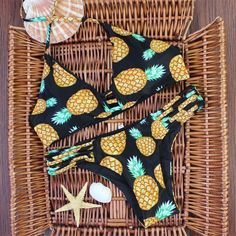 2016 New Design Pineapple Print Brazilian Bikini Retro String Bandage – Exceptional Online Market