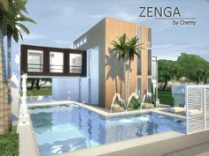 ZENGA house by chemy at TSR via Sims 4 Updates