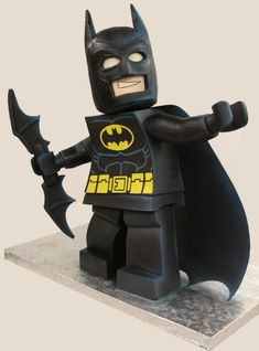 #LEGO #Batman #Cake - Such a #Cute Cake! We love and had to share! Great #CakeDecorating!