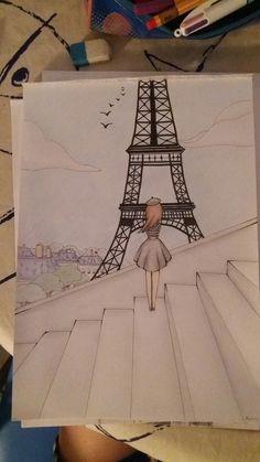 Disney Art Drawings Sketches Pencil Coloring 17 New Ideas Girl Drawing Sketches, Art Drawings Sketches Simple, Sketch Painting, Pencil Art Drawings, Easy Drawings, Drawing Ideas, Painting Art, Drawing Drawing, Paris Painting