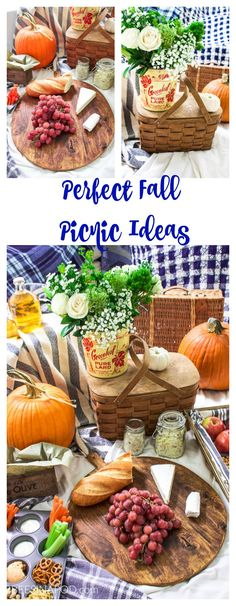 Perfect Fall Picnic Ideas. Picnic food for the fall. Vintage picnic ideas. Using tins, and real plates for picnics.  – Back to Basics