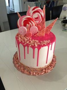 Un dripping cake bien girly
