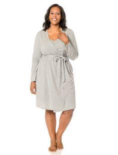 9efa2f231fcf5 Plus Size Empire Waist Nursing Nightgown And Robe () Plus Size Pregnancy