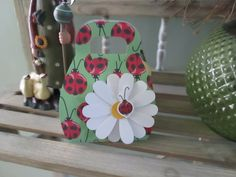 Ladybug Purse with Daisy Favor Boxes set of 10 by zbrown5 on Etsy