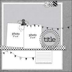PageMaps January 2017 two photo sketch Scrapbook Patterns, Baby Scrapbook Pages, Scrapbook Layout Sketches, 12x12 Scrapbook, Scrapbook Templates, Scrapbook Designs, Card Sketches, Scrapbook Paper Crafts, Scrapbooking Layouts