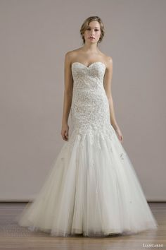 wedding dress style 6809 crystal encrusted embroidery illusion tulle drop torso trumpet strapless gown