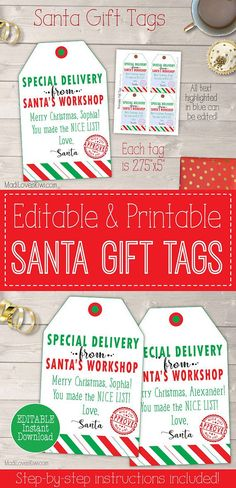 14 best from santa gift tags images on pinterest gift tags