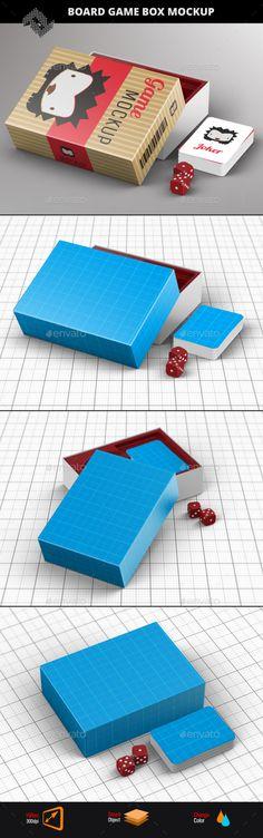 Board Game Box Mockup - Packaging Product Mock-Ups